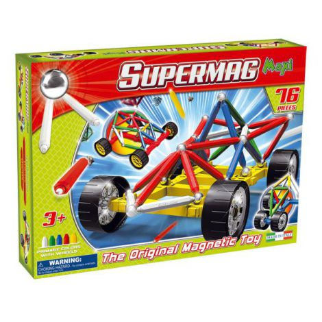 Supermag Maxi Wheels - Set Constructie 76 Piese imagine