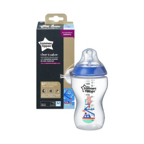 Biberon decorat 340ml, Tommee Tippee, 1 buc,