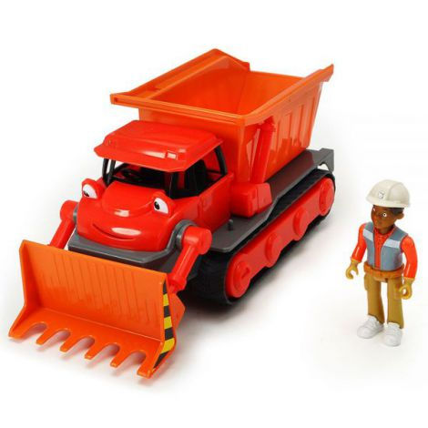 Buldozer Dickie Toys Bob Constructorul Action Team Muck Cu 1 Figurina Leo imagine