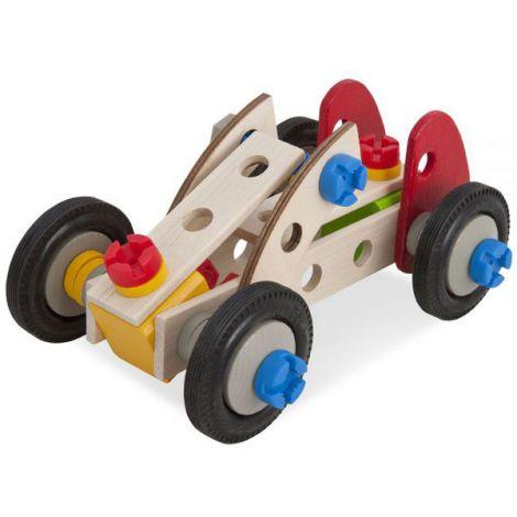 Set Constructie Din Lemn Eichhorn Constructor Racer 50 Piese imagine