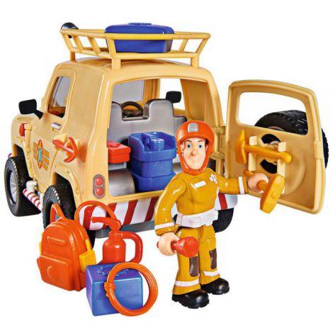 Masina Simba Fireman Sam Tom\'s 4x4 cu 1 figurina si accesorii