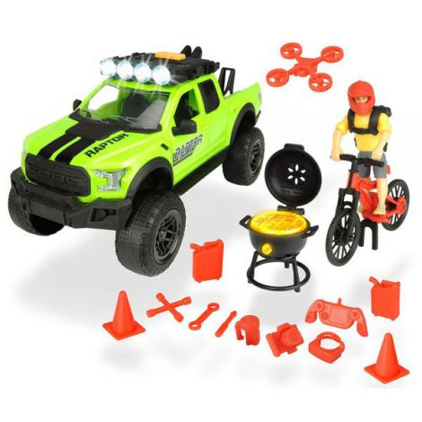 Masina Dickie Toys Playlife Bike Trail Set Cu Figurina Si Accesorii imagine