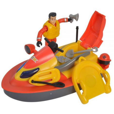 Jet Sky Simba Fireman Sam Juno Cu Figurina Si Accesorii imagine