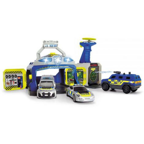 Pista de masini Dickie Toys SWAT Station cu 3 masini de politie si drona