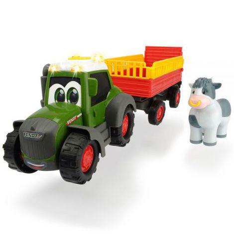 Tractor Dickie Toys Happy Fendt Animal Trailer Cu Remorca Si Figurina imagine