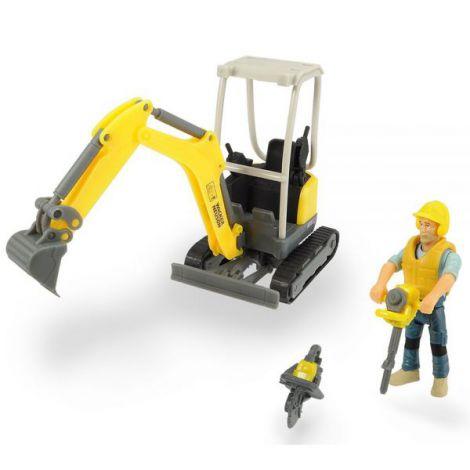 Excavator Dickie Toys Playlife Excavator Set Cu Figurina Si Accesorii imagine