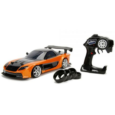 Masina Jada Toys Fast And Furious Mazda Rx-7 Drift Cu Anvelope Si Telecomanda imagine