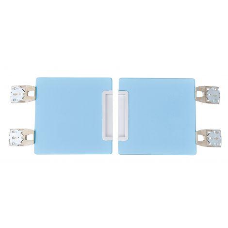 Set 2 usi albastru deschis pentru vestiar Quadro