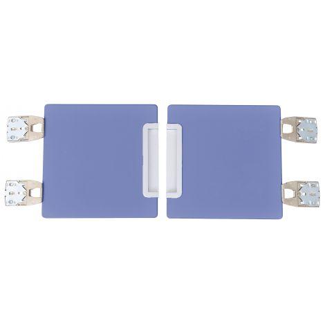 Set 2 usi albastru pentru vestiar Quadro