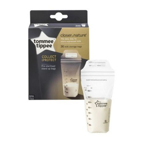 Pungi de stocare lapte matern Closer to Nature,Tommee Tippee, 36 buc