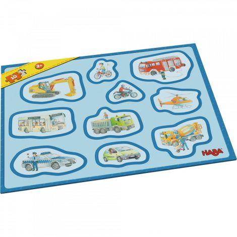 Primul Meu Puzzle Cu Rama, Haba, Vehicule, 2ani+ imagine