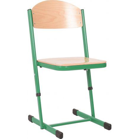 Scaun scolar ranforsat ajustabil - verde marimea 3-4
