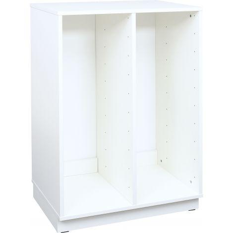 Dulap L alb pentru sertare inguste