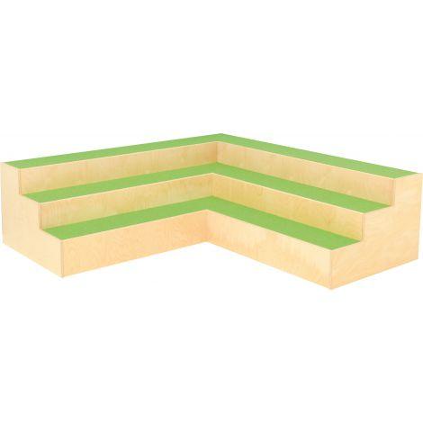 Platforma de colt cu scari