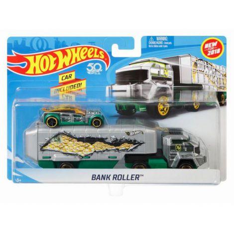 Hot Wheels Set Camion Si Masina Bank Roller imagine