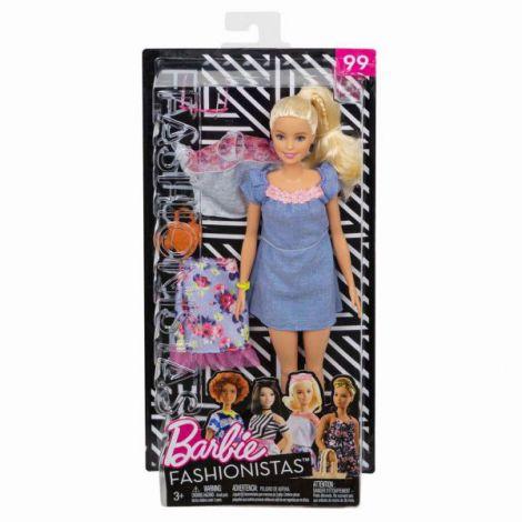 Papusa Barbie Fashionista Blonda Cu Hainute De Schimb