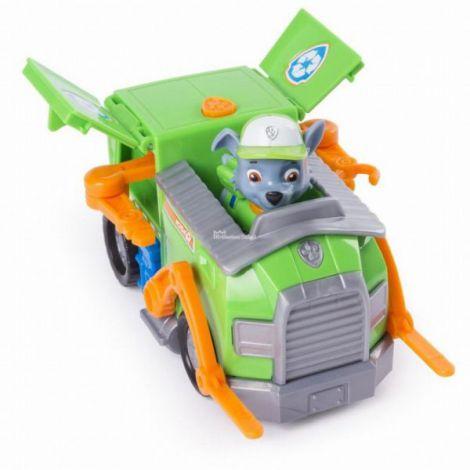 Figurina Si Autovehicul Paw Patrol Remorcherul Lui Rocky imagine