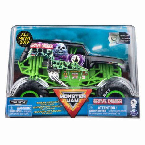 Monster Jam Machete Metalice Scara 1 La 24 Grave Digger
