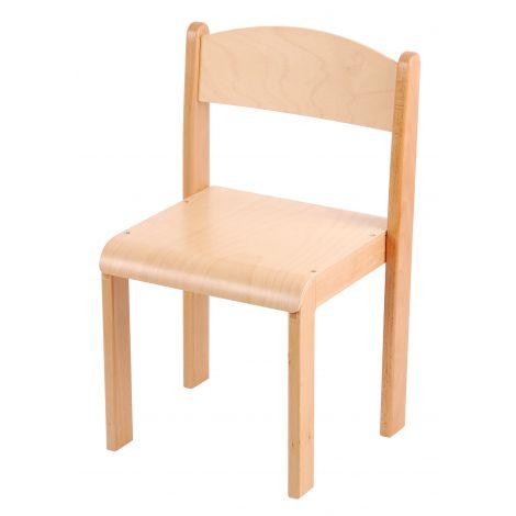 Scaun din lemn natur marimea 3