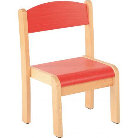 Scaun rosu marime 1 cu protectie fetru