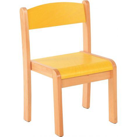 Scaun galben marime 1 cu protectie fetru