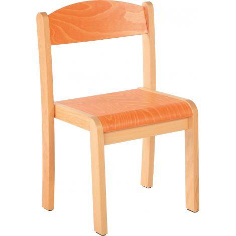 Scaun portocaliu marime 1 cu protectie fetru