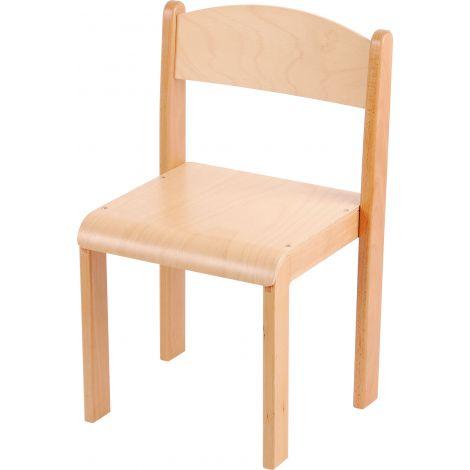 Scaun din lemn natur cu protectii fetru masura 4