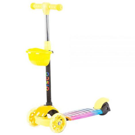 Trotineta Chipolino Disco yellow pink