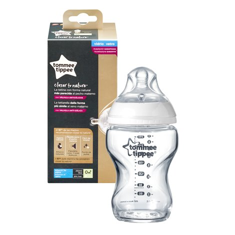 Biberon Closer to Nature, Tommee Tippee, sticla, 250ml