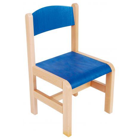 Scaun albastru din lemn masura 3 pentru gradinita