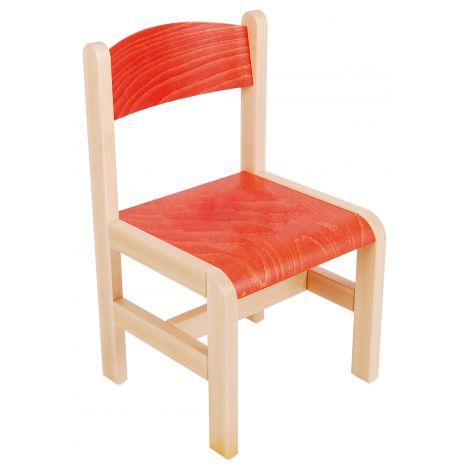 Scaun portocaliu din lemn masura 3 pentru gradinita