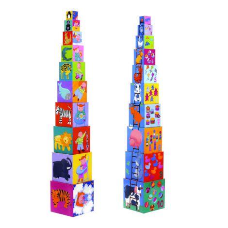 Djeco - 10 cuburi vesele pentru copii