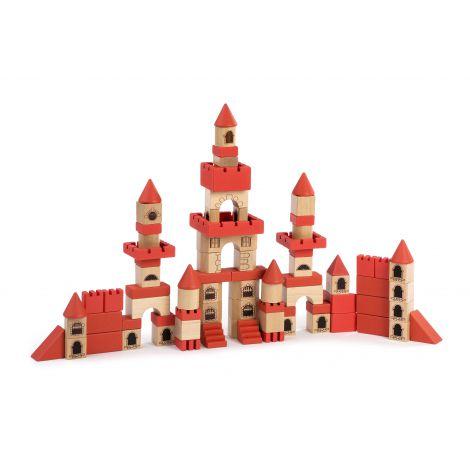 Joc de constructii din lemn Castel ECO