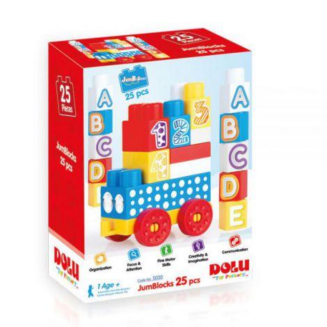 Cuburi de construit din plastic - 25 piese