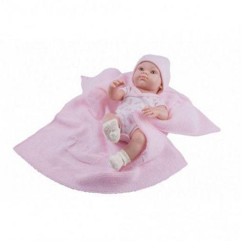 Bebelus fetita cu paturica tricotata roz - MINI PIKOLIN, Paola Reina