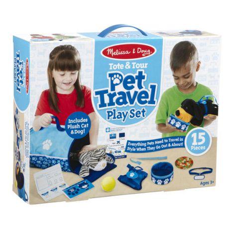 Set de joaca Animalele de companie calatoresc Melissa&Doug