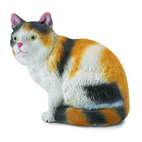 Figurina pisica Domestica pictata manual S Collecta