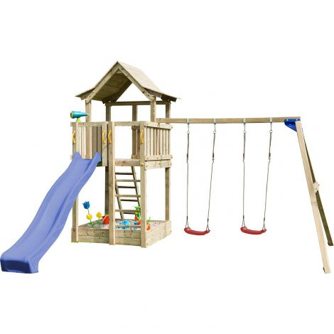Spatiu De Joaca Blue Rabbit Pagoda Cu Tobogan Si Swing Modul imagine