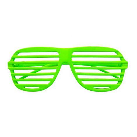 Ochelari disco neon verzi - marimea 128 cm