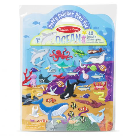 Set abtibilduri pufoase Oceanul - Melissa & Doug