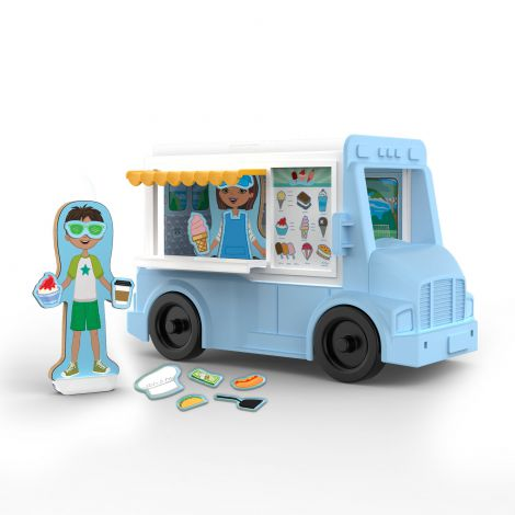 Set de joaca magnetic Food Truck- Melissa & Doug