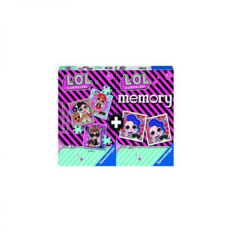 Puzzle + Joc Memory Lol, 25/36/49 Piese imagine