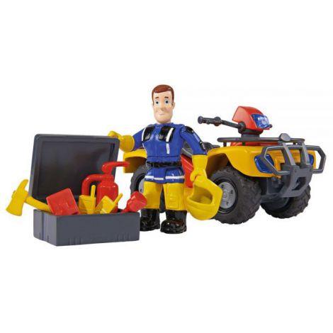 Atv Simba Fireman Sam, Sam Mercury Quad Cu Figurina Sam Si Accesorii imagine