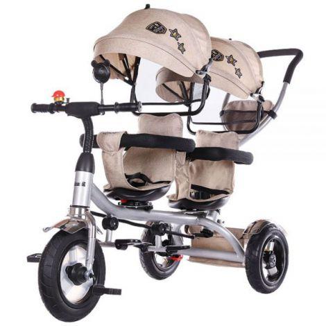 Tricicleta Gemeni Chipolino 2play Mocca imagine