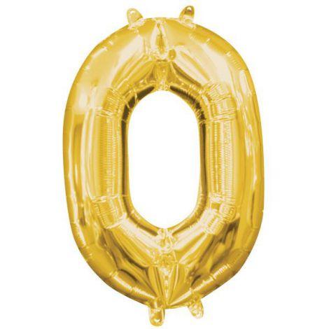 Balon folie auriu cifra 0