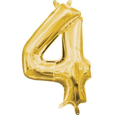 Balon folie auriu cifra 4