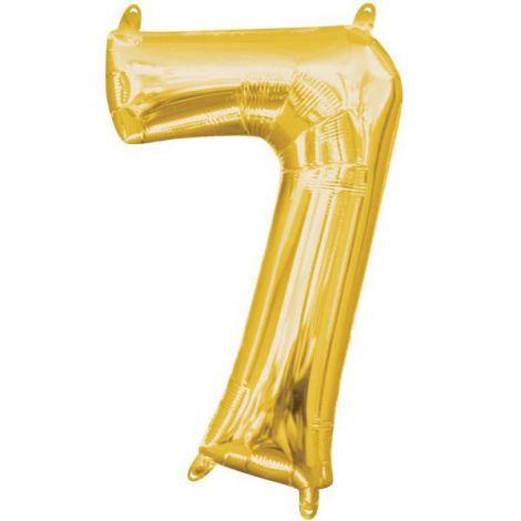 Balon folie auriu cifra 7