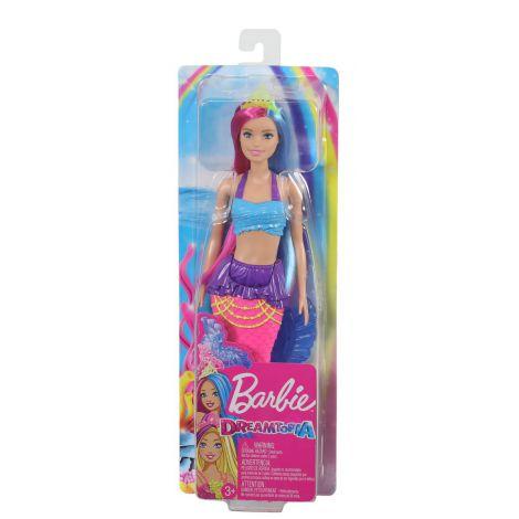 Barbie Papusa Sirena Cu Coronita Verde