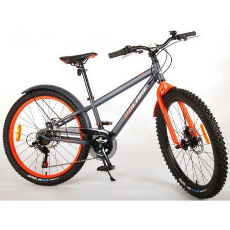 Bicicleta e-l rocky 24 inch 6 viteze, portocalie