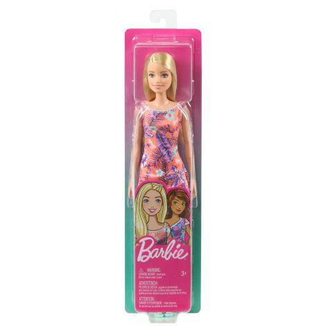 Papusa Barbie Blonda Cu Rochita Inflorata